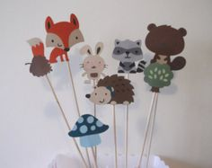 Woodland Party Decorative Picks
