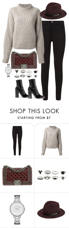 """Sin título #5544"" by marianaxmadriz ❤ liked on Polyvore featuring J Brand, Isabel Marant, Chanel, Skagen, rag & bone and Valentino"