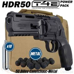 Rouge Lot De 32 munitions de défense Acier 8mm pour HDR 50 Umarex Cal 50