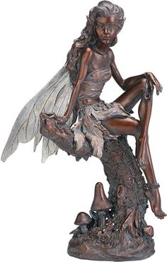 Lydiah - Bronze Color Fairy Statue - Ships Separately-from efairies.com/store