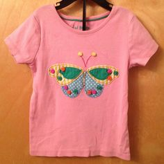 Mini Boden Pink Applique Pom Pom Butterfly Short Sleeve Tee T Shirt 3 4 Years   eBay