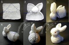 Knitted Bunny From A Square Pattern Video