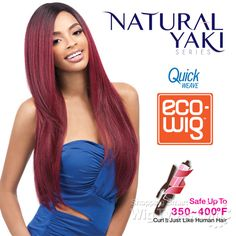 Outre Synthetic Wig Quick Weave - ECO WIG Natural YAKI 24 (futura) [8864]