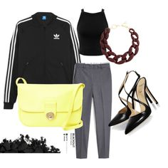 4 by pal0ma on Polyvore featuring polyvore, fashion, style, Miss Selfridge, adidas Originals, MANGO, Alexander White, See by Chloé, DIANA BROUSSARD and Urban Decay