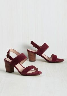 Strut Goes Around Heel in Berry by Chelsea Crew - Red, Solid, Work, Minimal, Better, Chunky heel, Slingback, Variation