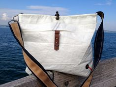 Sailing bag made of recycled sailcloth by Rough Element