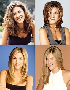 It's been 20 years since the landmark series Friends debuted! Check out the hair evolution of Jennifer Aniston's Rachel Green!