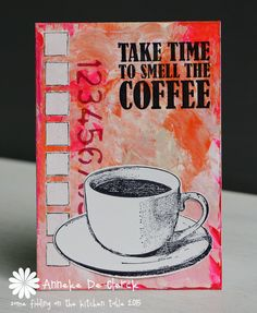 card coffee cup coffee break relax - Some fiddling on the kitchen table: Darkroom Door Coffee Time #1