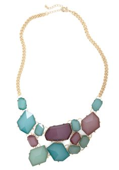Treasured Guest Necklace - Multi, Green, Blue, Purple, Gold, Statement, Prom, Party