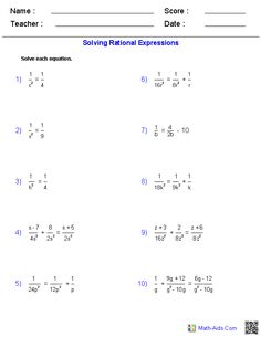 math worksheet : adding and subtracting rational expressions worksheets  math aids  : Maths Aid Worksheets