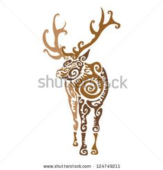 abstract elk tattoo designs - Google Search