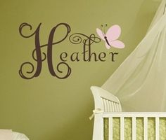 Another cute idea for the nursery :)  I love this website!  Would be great for teenagers too....without the butterfly!