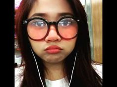 Cute Asian girl with big round glasses - YouTube
