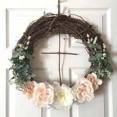 Cross Cross Wreath/Modern Wreath/Christian Wreath/Easter Wreath/Farmhouse  Wreath/Rustic Wreath/Door Wreath/Nursery Decor/ By SunshineSkyStudio On Etsy