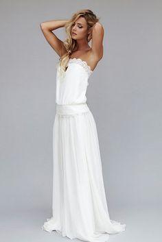 Ein Kleid in dem die Braut sich sehr entspannt fühlt und mal nicht so eingequetscht ist :-)
