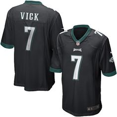 Nike Eagles  7 Michael Vick Black Alternate Mens NFL Game Jersey And   Broncos Emmanuel c74bf74f9
