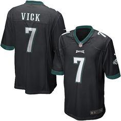 Nike Eagles  7 Michael Vick Black Alternate Mens NFL Game Jersey And   Broncos Emmanuel c74bf74f9