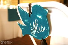 50 best bird wedding ideas: #17 chair decor (by a and j studio) via Emmaline Bride