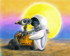 Wall-E - the best love story with no words.