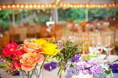 Colorful Summer Wedding Reception