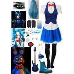 Loving the toy bonnie clothes just love them Costume Manga, Fnaf Costume, Fnaf Cosplay, Freddy Costume, Casual Cosplay, Cosplay Dress, Cosplay Outfits, Anime Outfits, Anime Inspired Outfits