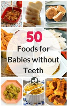 50 Foods for Babies without Teeth - 50 Foods for Babies without Teeth Babybrei-selber-machen.de babybreirezepte Babybrei und Beikost: Re - Toddler Meals, Kids Meals, Toddler Food, Meals For Baby, Toddler Recipes, First Foods For Baby, Solid Foods For Baby, Food For Toddlers, Fingerfood Baby