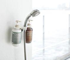 シャワーホルダーにシャンプーボトルが整理できる便利グッズ【LUXS ディスペンサーホルダー】 インテリアハック