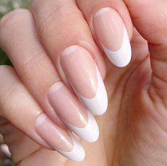 SMARTGLAM Press On Nail Extensions Long Elegant French Manicure False Nails