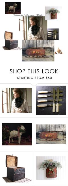 """""""Victorian Christmas Wishes"""" by domesticrebus ❤ liked on Polyvore featuring interior, interiors, interior design, home, home decor, interior decorating and vintage"""