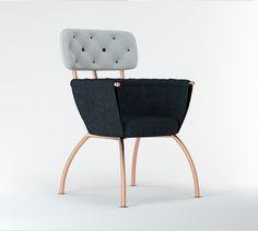 "Armchair ""Cooper Pin"" by Julia Kononenko Like & Repin. Noelito Flow. Noel http://www.instagram.com/noelitoflow"