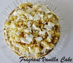 Raw Banana Macadamia Coconut Dream Pie | Fragrant Vanilla Cake