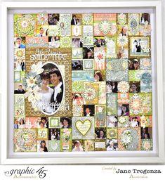 Amazing Shabby Patchwork layout by Jane using Botanical Tea! Scrapbook Albums, Diy Scrapbook, Scrapbook Supplies, Scrapbooking Layouts, Frame Layout, Wedding Scrapbook, Scrapbook Embellishments, Graphic 45, Altered Art