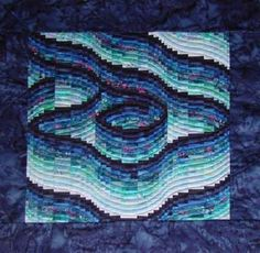 Quilt Inspiration: More fabulous bargello quilts !