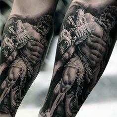 Hercules Taking on Cerberus
