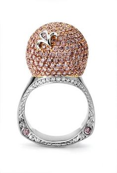 Beaudry Pink Diamond Dome Ring - Charles Schwartz & Son