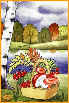 Herbstbäume   Arbeitsblätter - Kindergarten