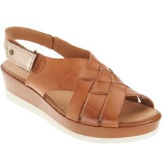 a085c5fac Earth Leather Wedge Sandals - Sunflower. Zapatos Ortopédicos