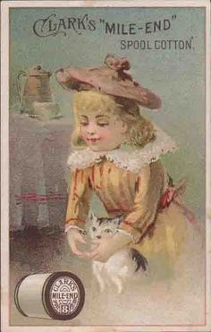 Clark's Mile End Spool Cotton Victorian Trade Card