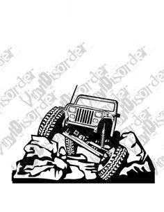 Jeep 4x4 4 x 4 Offroad Rock Climbing Vinyl Decal Car Window Stickers 14
