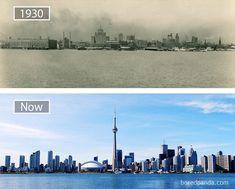 O antes e depois de diversas cidades registrado em fotografias - Confira um compilado de fotografias que trazem o antes e o depois de diversas cidades ao redor do mundo. Incrível!