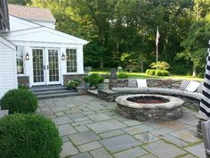 Back patio with fire pit/Greystone Development/TR Construction