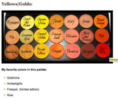 Mac Palette Yellow and Orange