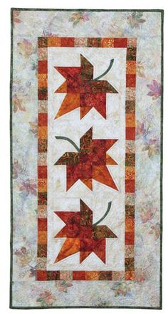 Autumn Leaves: Eleanor Signature Quilt Pattern 735272012603 735272012603 - Quilt in a Day Books Patchwork Table Runner, Table Runner And Placemats, Table Runner Pattern, Quilted Table Runners, Fall Table Runner, Thanksgiving Table Runner, Signature Quilts, Fall Sewing, Quilt In A Day