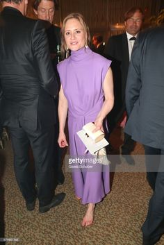 Julia Jentsch barefoot during the Lola - German Film Award after party at Palais am Funkturm on April 28, 2017 in Berlin, Germany.
