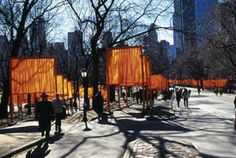 Christo and Jeanne-Claude The Gates, Central Park,  New York City, 1979-2005