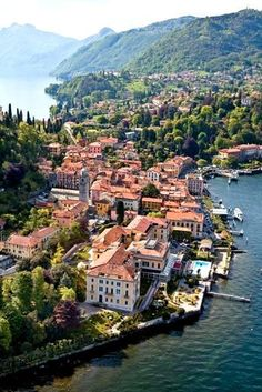Lake Como. Bellagio is a small Italian Island. If I could live anywhere it would be there!