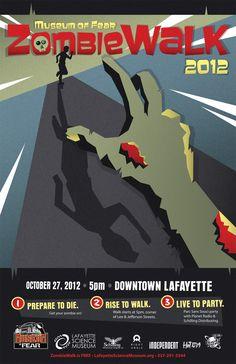 Lafayette Science Museum ZombieWalk 2012 Poster