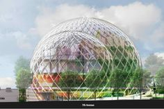 amazon's biosphere | NBBJ Unveils Striking Biosphere Greenhouses for Amazon's ...