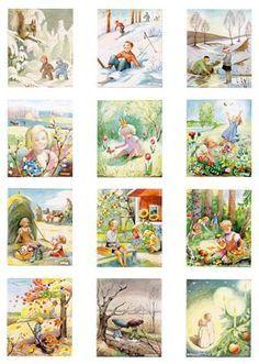 Kerstin Frykstrand - Januari till December - Prints & affischer - Artorama.se