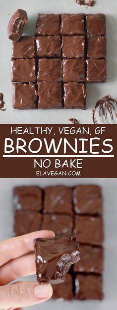 healthy, vegan, GF no bake brownies